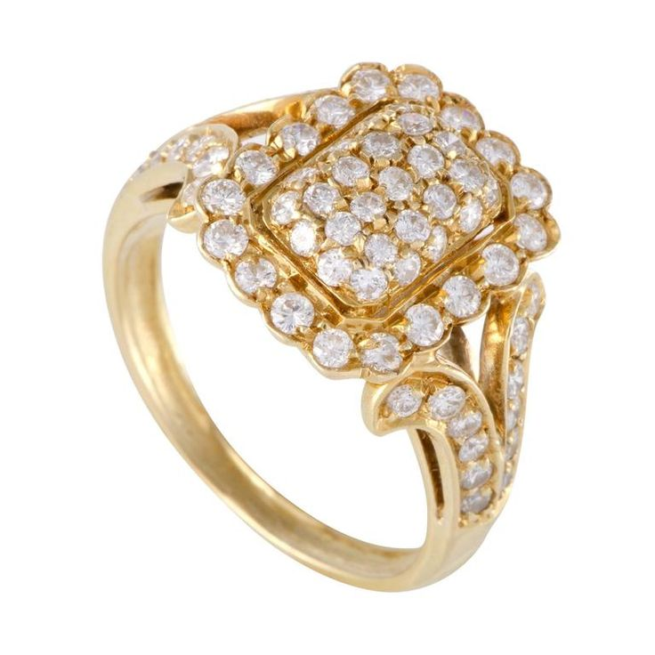 Cartier Diamond Pave Yellow Gold Ring 1