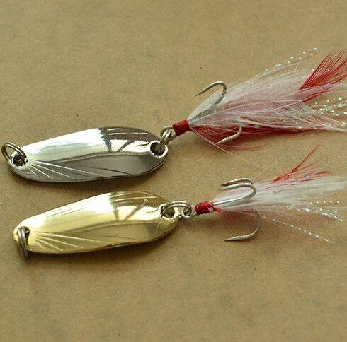 Free shipping fishing spoon lure metal lure silver/gold 8g 12g 14g spoon bait hard lure cheap fishing lure China fishing tackle