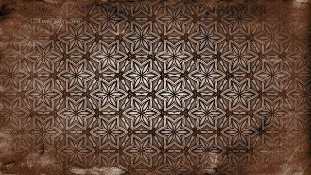 Dark Brown Seamless Floral Vintage Pattern Background Image Background Patterns Brown Seamless Vector Free