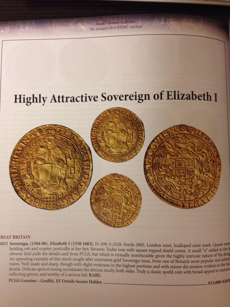ソブリン金貨  レア 1584-86  EF  最高グレード