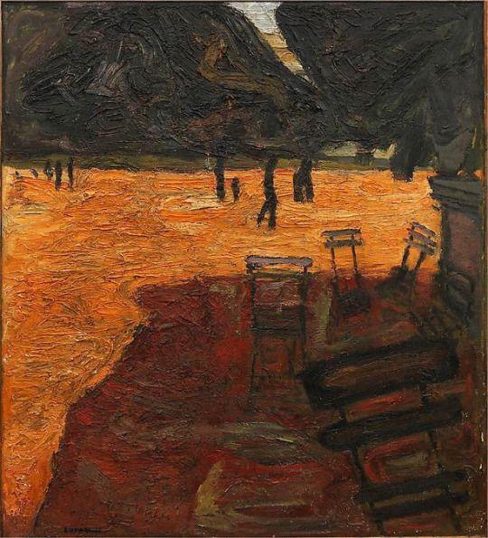Evert Lundquist (Swedish, 1904-1994), Jardin du Luxenbourg, 1934. Oil on Canvas, 137 x 125 cm