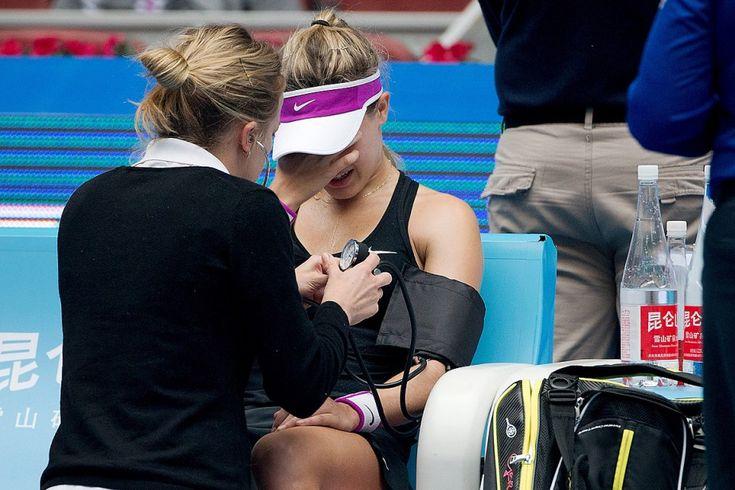 Eugenie Bouchard a abandonné la partie en 2e manche de son affrontement de 1er tour, lundi, à l'Omnium 2015 de tennis de Chine disputé à Pékin.