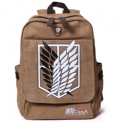 Attack on Titan Survey Cops School Bag Canvas Backpack $24.95