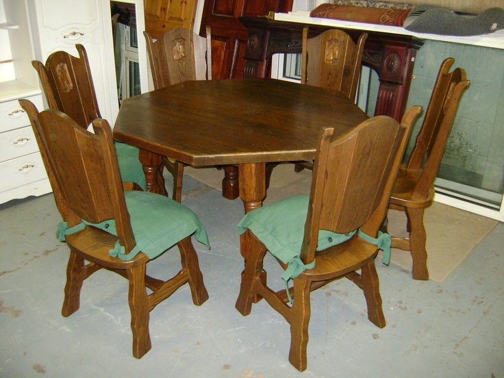 Deccie's Done Deal Second Hand Furniture & House Clearances : New Stock Has Arived: Solid Oak Table + 6 Chairs, Buggy, Lard Chest of Drawers X2, TV Stand, Portable TV, Pine Cot, Pictures and More!!
