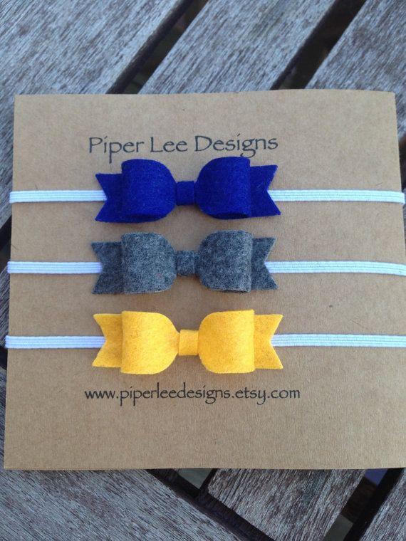 Baby headbandheadband set headband felt bow by PiperLeeDesigns