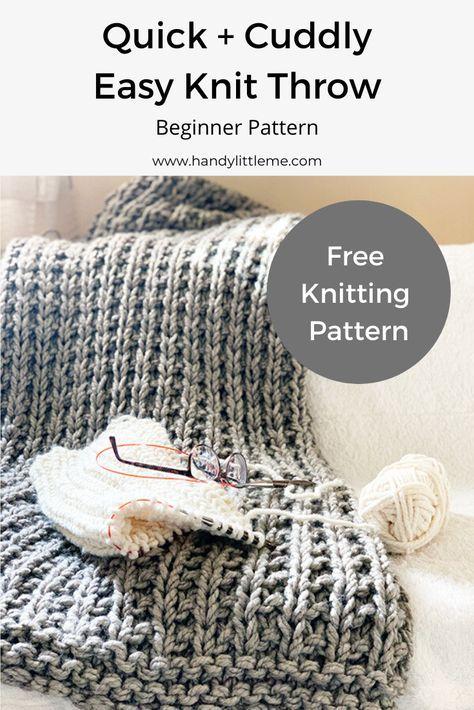 Sampler Chunky Throw Blanket Knitting Pattern Winter Cuddler Etsy