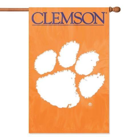 NCCA Clemson Tigers Appliqué Banner Flag
