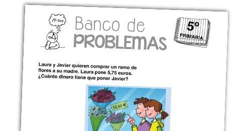 """""""Banco de problemas"""" es una sección en la que publicamos problemas de matemáticas para trabajar con todos los cursos de la etapa de Ed..."""