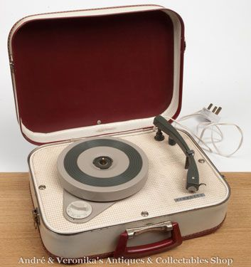 1950s Fidelity suitcase record player