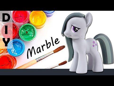 CUSTOM My Little Pony MARBLE PIE Tutorial MLP Toy Figure DIY | SweetTreatsPonies - YouTube