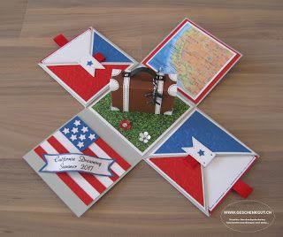Überraschungsbox Explosionsbox Geschenkgutschein Geldgeschenk Reise Geburtstag Koffer Amerika Städtereise Amsterdam Paris Berlin Hamburg