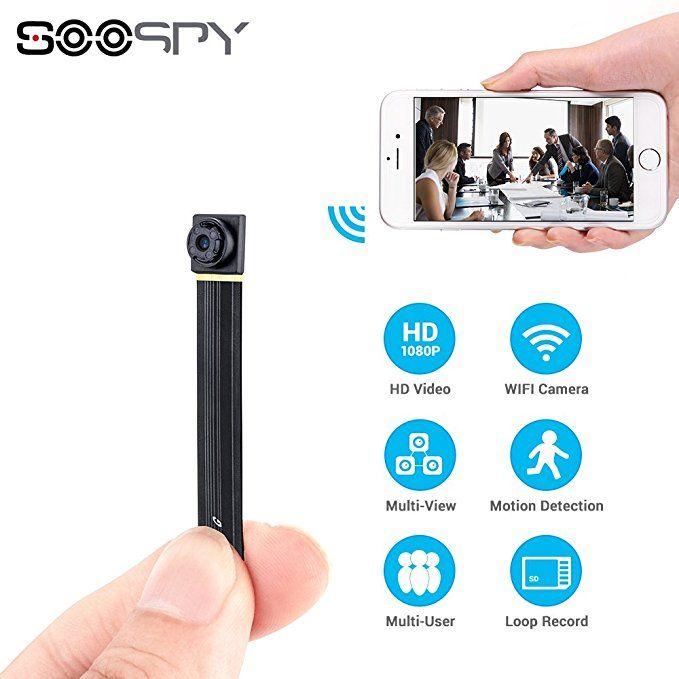 Spy Hidden Camera-SOOSPY 1080P Portable Mini Security Camera Nanny Cam with N...
