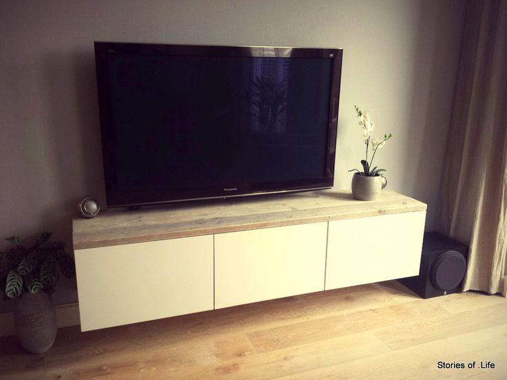 besta tv meubel steigerhout diy pinterest tvs apartment