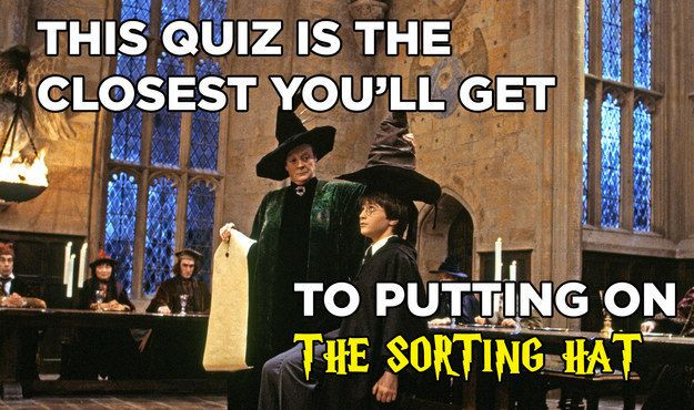 So, without further ado:   This Quiz Is The Closest You'll Get To Putting On The Sorting Hat