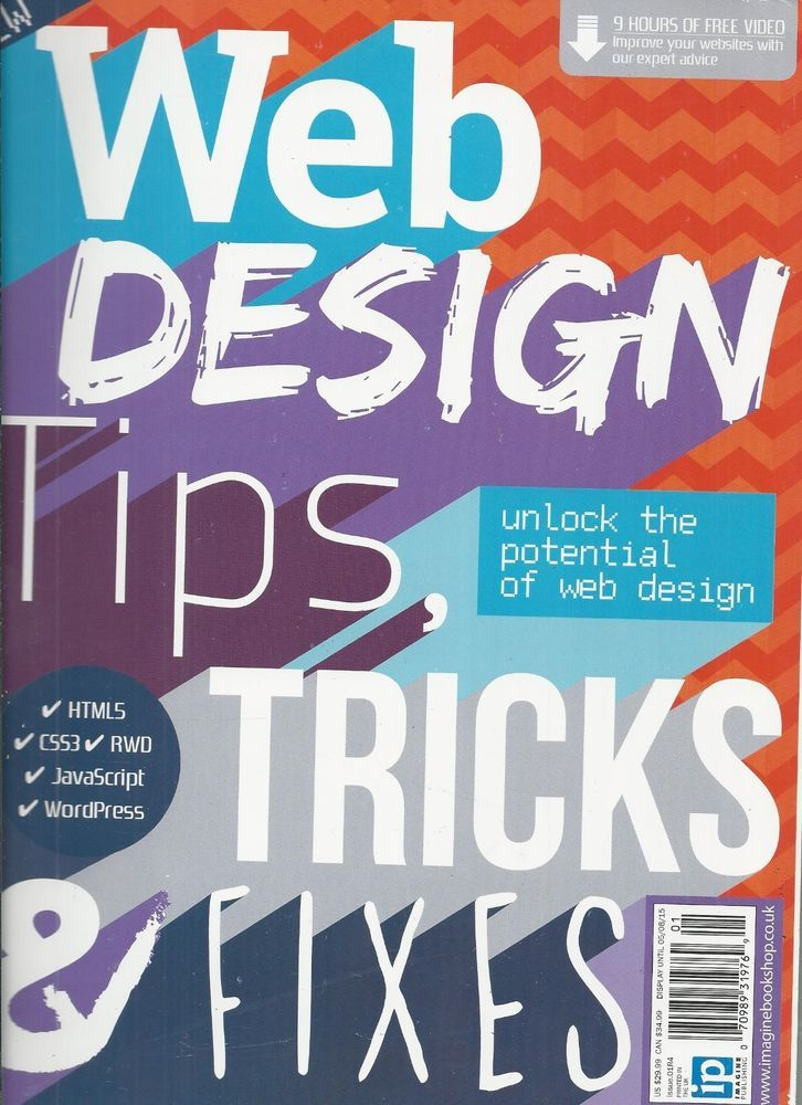 Web Design Tips Tricks and Fixes computer magazine HTML JavaScript WordPress