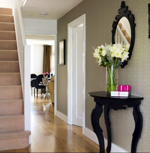 hallway table and mirror high traffic spaces pinterest