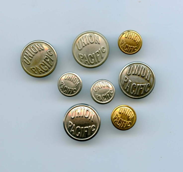 Aluminum Brass Working France: SOLD: Union Pacific Railroad Buttons $20.00