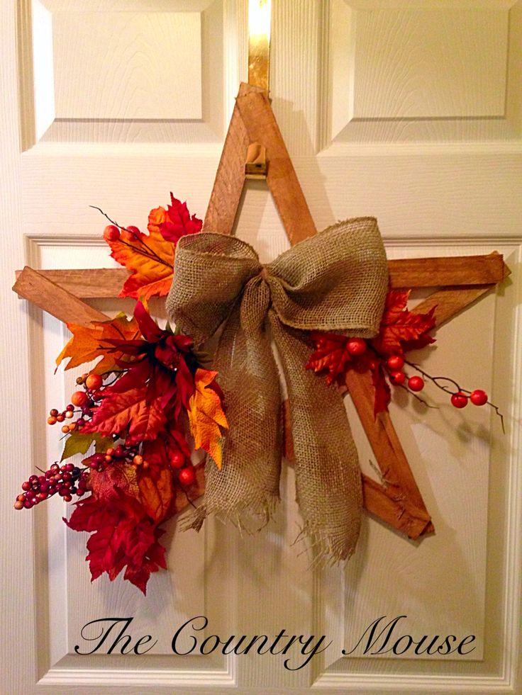 Autumn rustic star