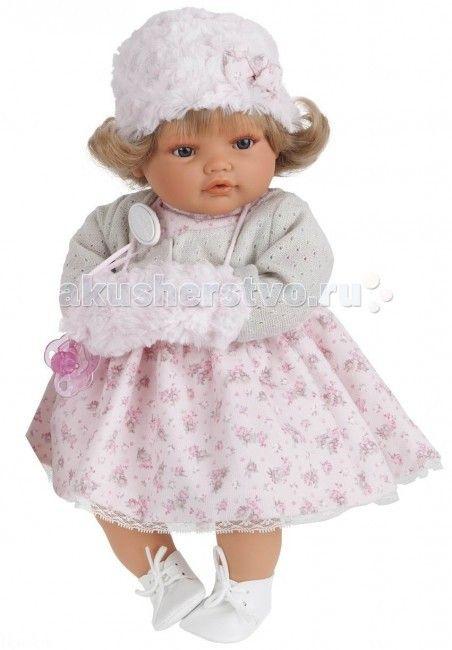 Munecas Antonio Juan  Кукла Белла плачущая 42 см  Кукла-младенец Белла выглядит совсем как ребенок. Куклы одеты в чудесные наряды, созданные испанским дизайнером.  Личико сделано с детальными прорисовками. Образы малышей Мунекас разработаны известными европейскими дизайнерами. Они натуралистичны, анатомически точны, с подвижными ручками и ножками, копируют настоящих младенцев.  Малыш умеет плакать, вставьте соску в ротик куклы и она сразу успокоится.   Кукла с виниловыми подвижными ручками…