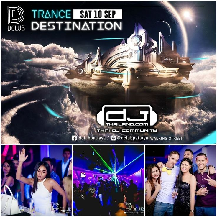 Saturday brings along #Trancedestination with #DJthailand for all you trance aficionados. Promotion : 10 PM - 1AM  All drinks 90 thb ! ( Beer Spirit by the glass )  open bottle and get Unlimited mixer ! Catch y'all on our dance floors! #dclubpattaya #Dclub #pattaya #walkingstreet thailand #trance