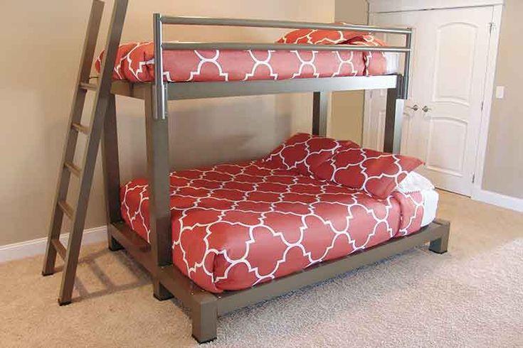 Queen Beds Metal Wood And Metal Bunk Bed Queen Over Queen: Best 25+ Adult Bunk Beds Ideas On Pinterest