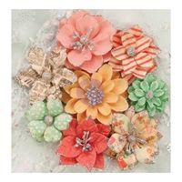 Sweet Peppermint Flowers - Christmas Lights