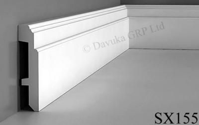Skirting Board with space for hiding cables.