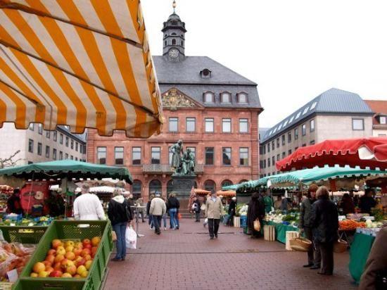 Hanau, Germany Wednesday's Market day, great fresh vegetables.