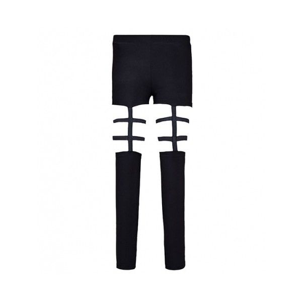 Leggings With Lattice Cutout Panels ($20) ❤ liked on Polyvore featuring pants, leggings, elastic waist pants, full length leggings, legging pants, cut out leggings and white pants