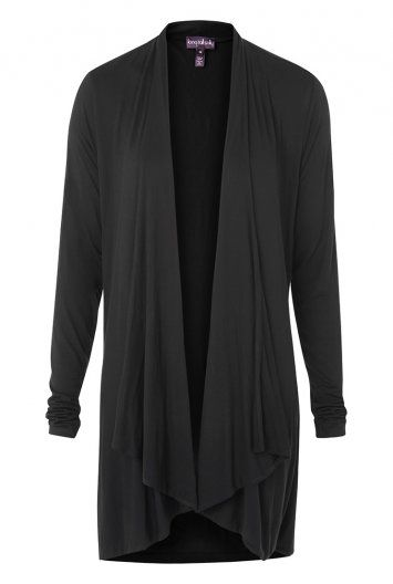 I like this Waterfall Jersey Cardigan but necessarily in black. I would like more color in my wardrobe.