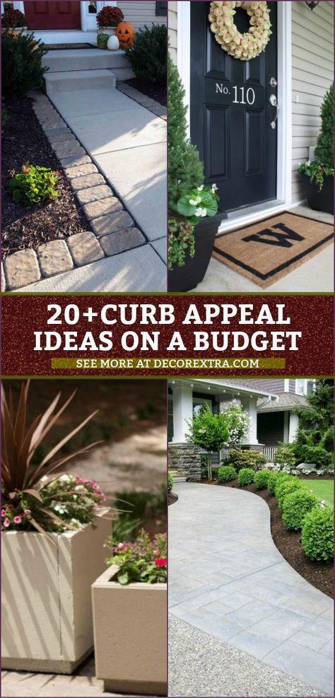 20+ einfache DIY-Curb-Appeal-Ideen für ein Budget, das Ihr Zuhause komplett verwandelt