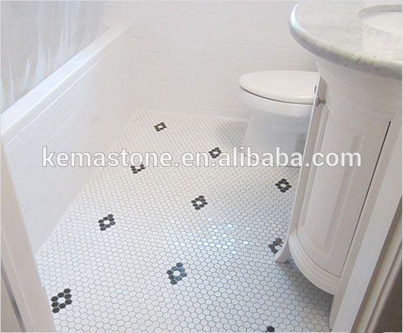 Bathroom Mosaic Porcelain Flooring Black And White Hexagon Tile Photo  Detailed about Bathroom Mosaic Porcelain. 1000  ideas about White Hexagonal Tile on Pinterest   Hexagon