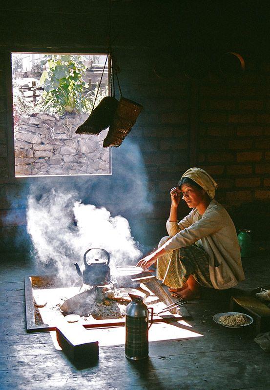 Preparing Green Tea, Pindaya, Myanmar Copyright: yeah yeah