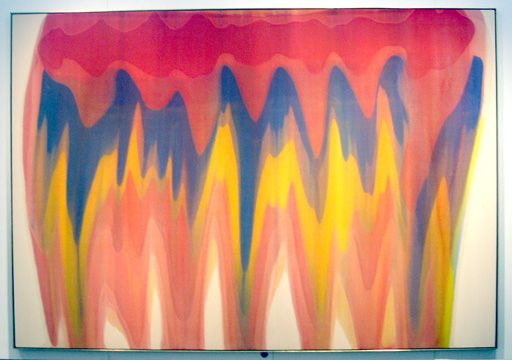 """Like this work of art. """"Saf,"""" by Morris Louis, magna on canvas, 98 1/2 by 141 inches, 1959."""