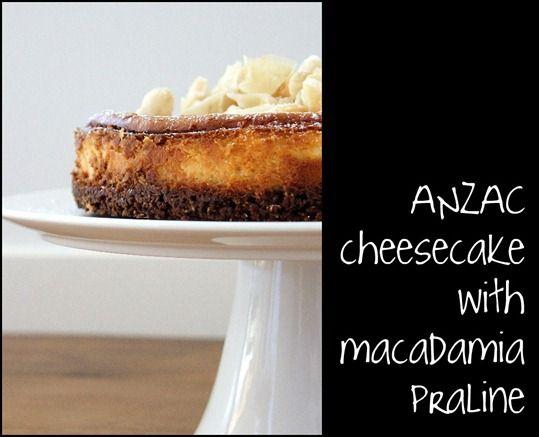 anzac cheesecake with macadamias