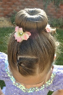 Glitter Glam @ Princess Piggies.  Use spray glitter from the craft section to make the hair sparkle for dance performances.