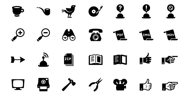 Retro Icon Set | Pixel Pixel Pixel // Free Jetpacks for Designers