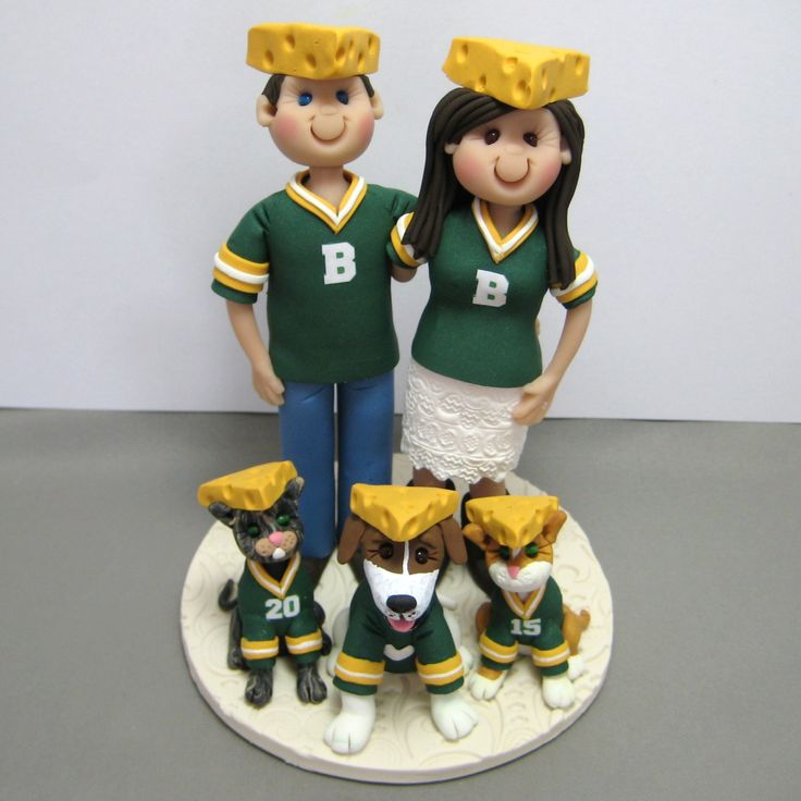Packers Wedding Cake Topper