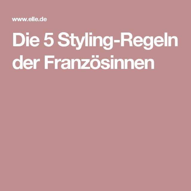 Die 5 Styling-Regeln der Französinnen