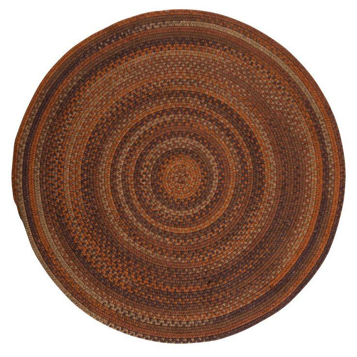 Rustica Round Braided Wool Rug, RU70 Audubon Russet