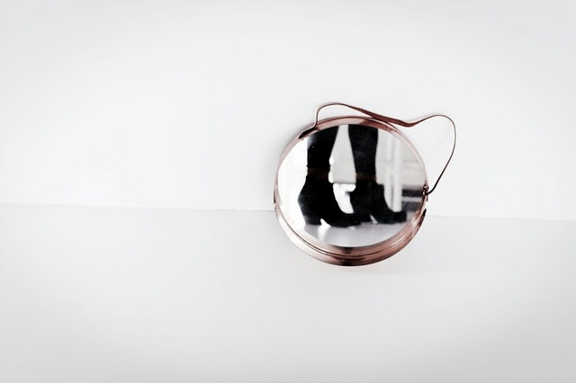 Cherries Blossoms, Round Mirrors, Shoes Fit, Boots And, Black White, Blossoms Blog, Copper Mirrors, Photography, Design Blog