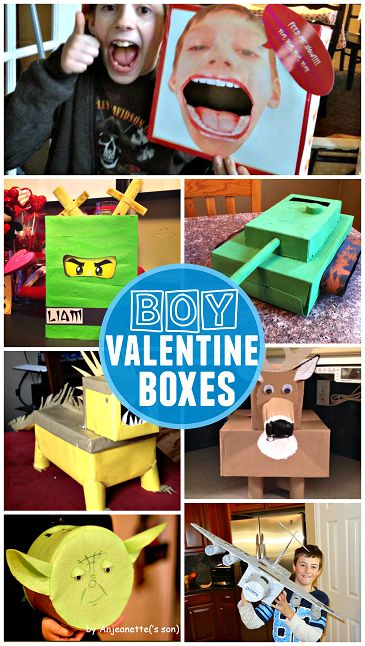Awesome Valentine Card Boxes Boys will Love (Classroom card holders) | CraftyMorning.com