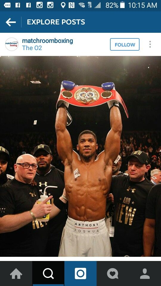 Anthony Joshua!!!! Those Abs tho!!