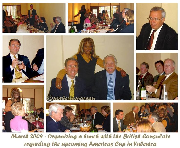 🇬🇧 March 2004 - Organizing a lunch with the British Consulate regarding the upcoming Americas Cup in Valenica. 🇪🇸 Marzo de 2004 - Organización de una comida con el Consulado Británico hablando de la próxima Copa América en Valenica.