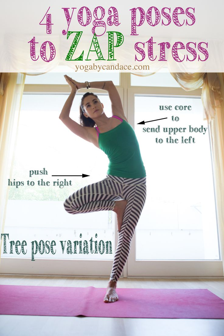 Pin it! 4 yoga poses to zap stress...