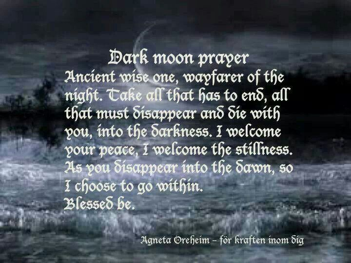 Dark moon prayer