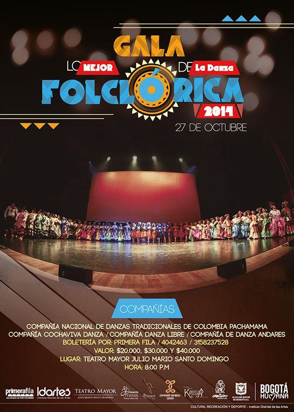 """Gala """"Lo Mejor de la Danza Folclórica"""". Diseño: Cristian Hernández. Bogotá, 2014."""