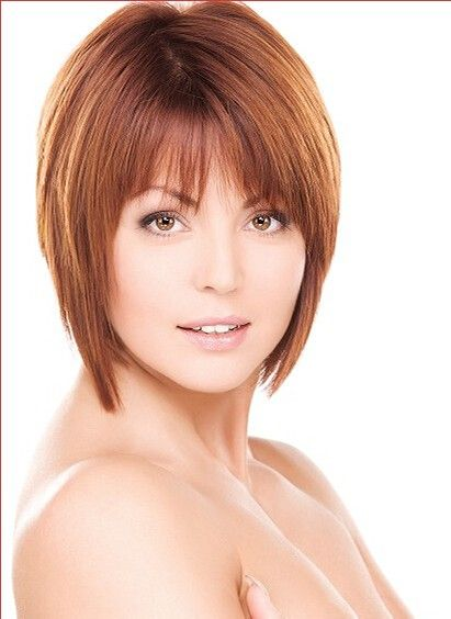 Short Lace Front Straight Remy Human Hair Wig