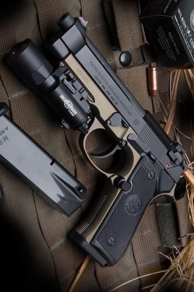 Beretta Model 92FS Wilson Combat 9x19MM Parabellum w/ SureFire X300 Ultra Light Find our speedloader now! http://www.amazon.com/shops/raeind