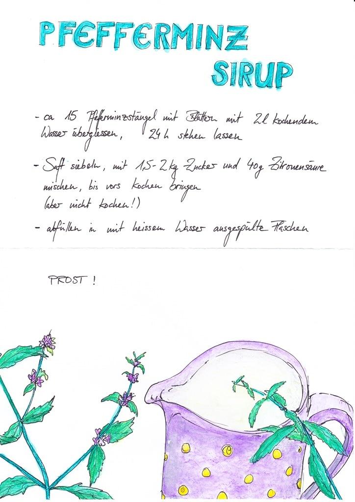 Pfefferminz-Sirup - Das Rezept